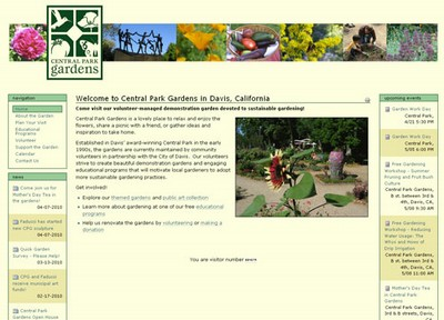 SimpleSite: Central Park Gardens Website