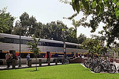 Bicycles at Davis Railroad Station