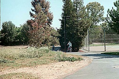 Tennis Court and Bicycle Path