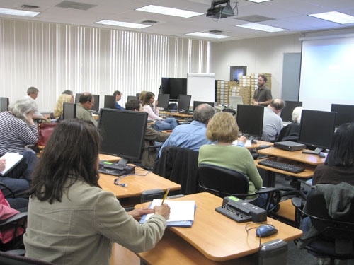 """An enthusiastic full class for Tim Valdepena's """"Protect Yourself Online"""""""