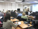 "An enthusiastic full class for Tim Valdepena's ""Protect Yourself Online"""